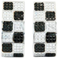 Chopard Black and White Diamond Earrings