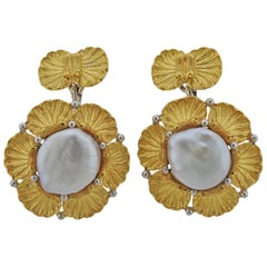Buccellati Gold Biwa Pearl Cufflinks