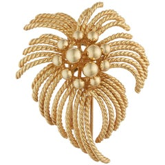Van Cleef & Arpels Yellow Gold 'Fireworks' Brooch