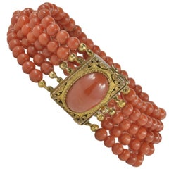 Victorian Ox Blood Natural Untreated Red Coral Rare Bracelet