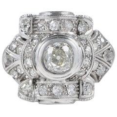 Art Deco 1.75 Carat Diamond Platinum Ring