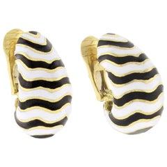 David Webb Kingdom Collection Zebra Earrings