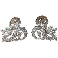 "Cartier Diamond ""Dragon"" Cufflinks"