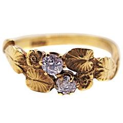 Art Nouveau Diamond Gold Engagement Ring