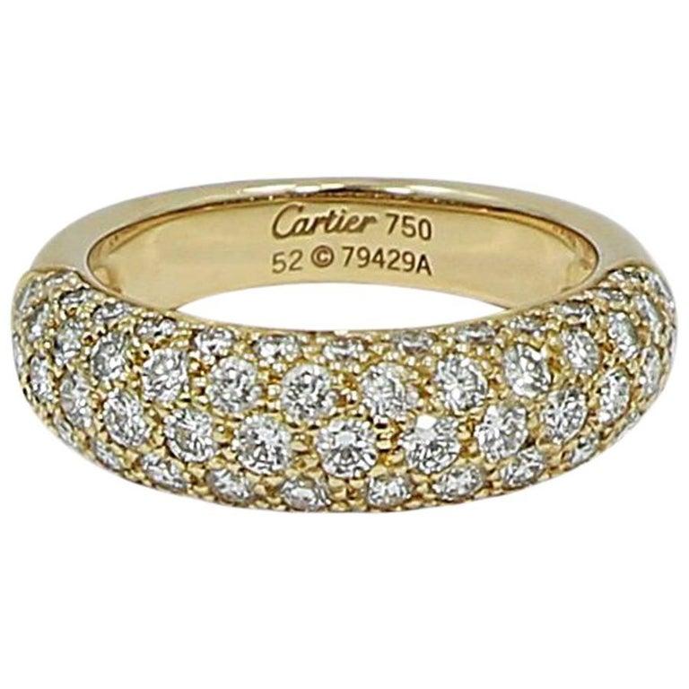 Cartier Diamond Yellow Gold Band