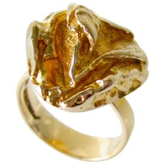 Bjorn Weckstrom for Lapponia Gold Yellow Rose Engagement Ring