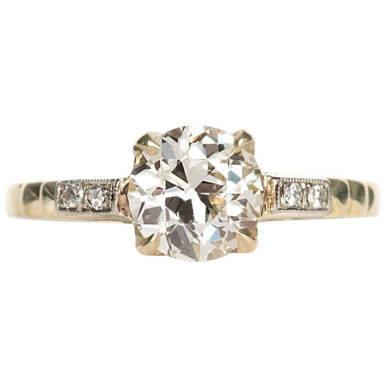 Edwardian Engagement Rings For Sale: 1910 Edwardian Old European Cut Diamond Engagement Ring