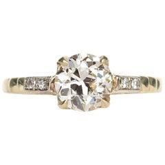 1910 Edwardian Old European Cut Diamond Engagement Ring