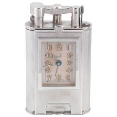 Dunhill Silver Plated Oversized Limited Edition Table Lighter Quartz Watch