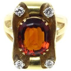 Luise Gold Diamond Topaz Ring