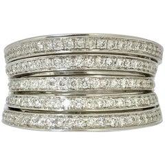 White Diamonds 1.150 Carat and White Gold Ring