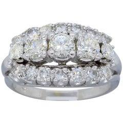 1.45 Carat Three-Row Diamond Band