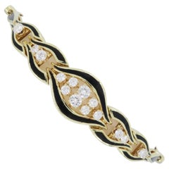 Diamond and Black Enamel Bracelet