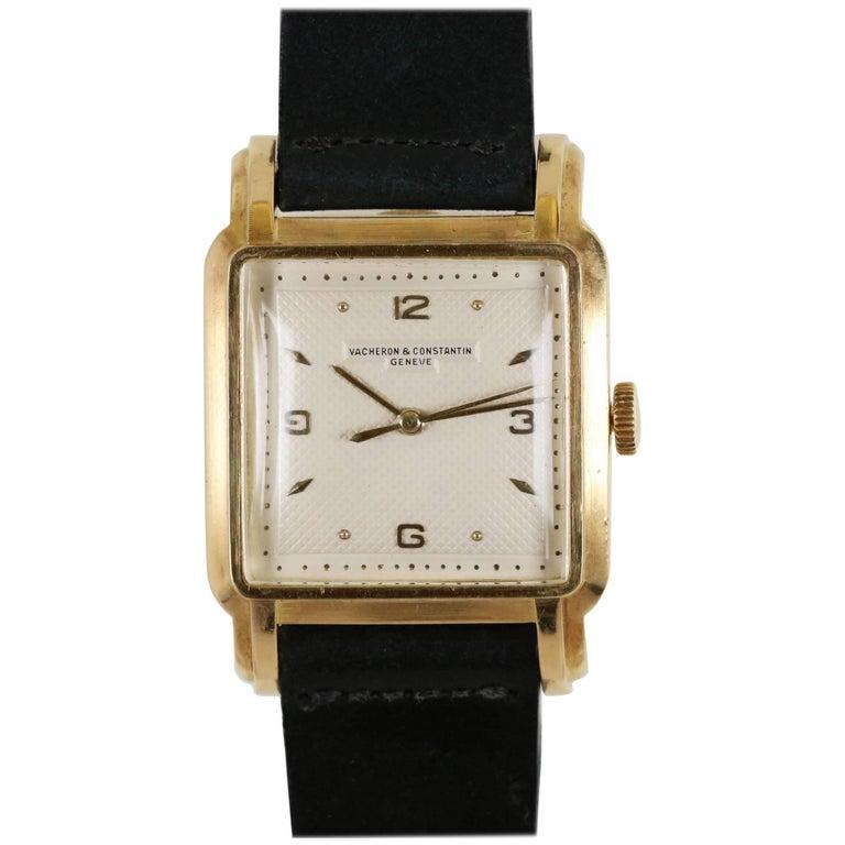 Vacheron Constantin Yellow Gold Textured Dial Automatic Wristwatch Ref 4657