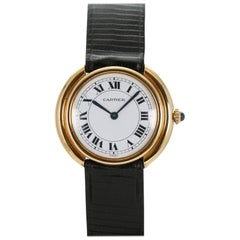 Cartier Yellow Gold Oval Automatic Wristwatch