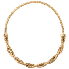 1950s  Rose Gold Tubogas Necklace