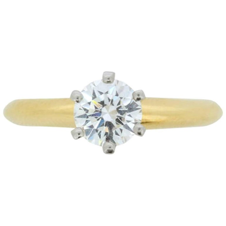 Tiffany & Co. Round Brilliant Cut Diamond Solitaire Engagement Ring