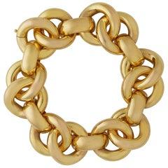 Interlocking Yellow Gold Circles Bracelet