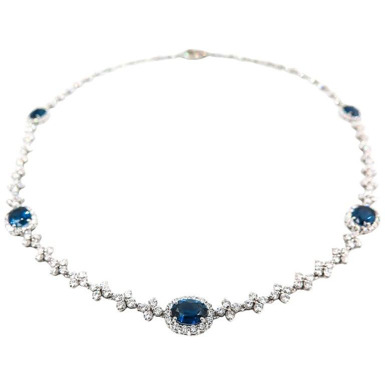 Leo Pizzo Sapphire Diamond Necklace