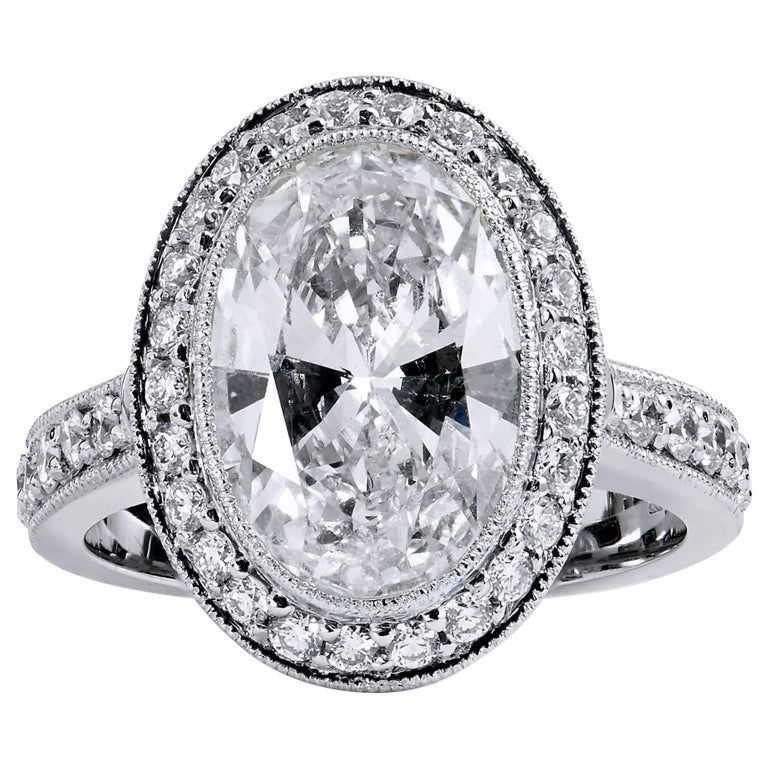 h and h carat oval diamond and pave engagement ring. Black Bedroom Furniture Sets. Home Design Ideas