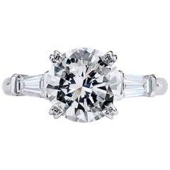 H & H 2.22 Carat Diamond Engagement Ring