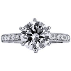 4c1c07bf857ff 0.52 Carat Carre Cut Diamond Engagement Ring For Sale at 1stdibs