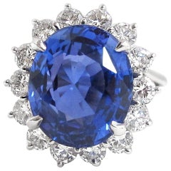 12.19 Ceylon No Heat Sapphire and Diamond Ring