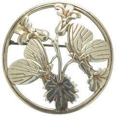 George Jensen Vintage Silver Butterfly Brooch, Designed by Arno Malinowsky
