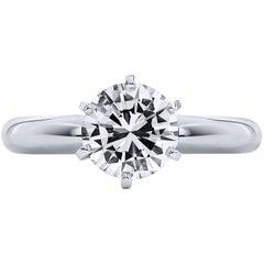 H & H 1.37 Carat Diamond Engagement Ring
