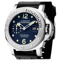 Panerai Stainless Steel Limited Edition Luminor Submersible Automatic Wristwatch