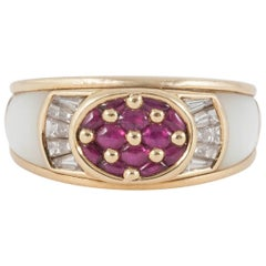 Mauboussin Paris Ruby Diamond Mother-of-Pearl Ring