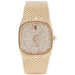 Corum Ladies Yellow Gold Diamond Set Mechanical Wristwatch, circa 1960
