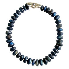 Faceted Blue Flash Labradorite Statement Necklace