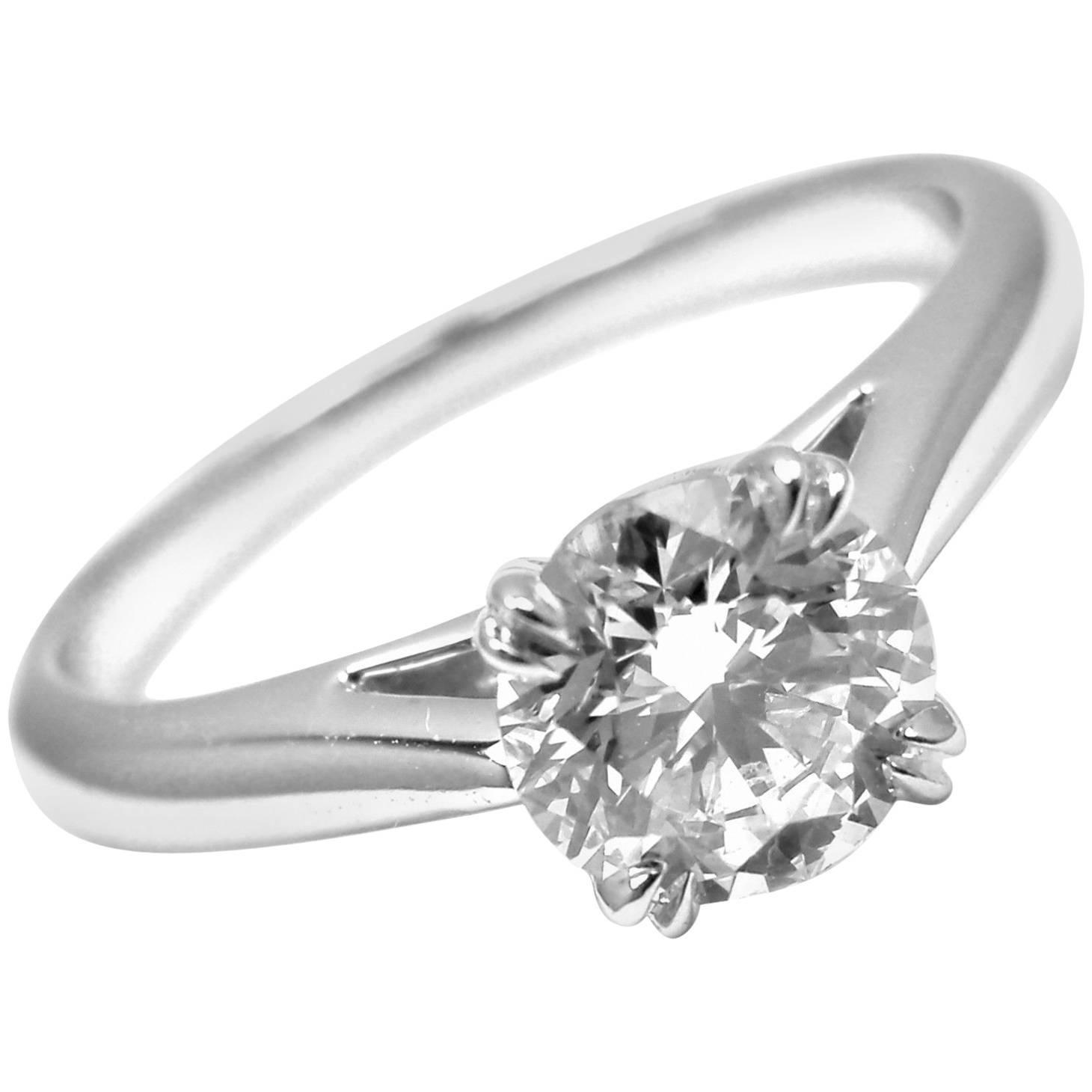 Harry Winston .56 Carat VVS1/F Diamond Solitaire Platinum Engagement Ring