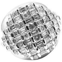 Damiani 2.40 Carat Diamond Bombe Dome Cocktail White Gold Ring