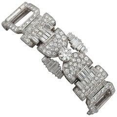 1950s French  21.38 Carat Diamond and Platinum Bracelet