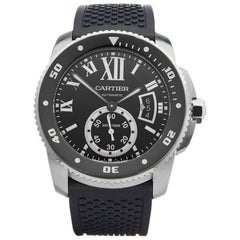 Cartier Stainless Steel Calibre Automatic Wristwatch, 2010s