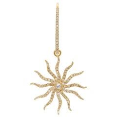 Yvonne Leon Contemporary Diamond Gold Earring