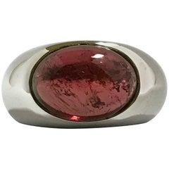 Tourmaline 6.05 Carat and White Gold Ring