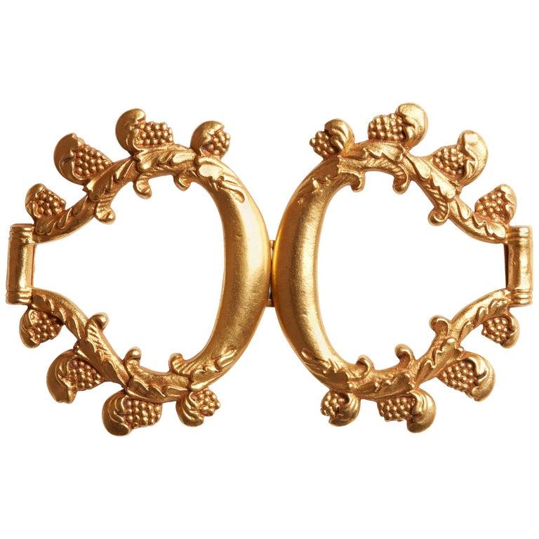 LG Treasures circa 1940 Line Vautrin 'Grappes De Raisin' Gilt Bronze Belt Buckle
