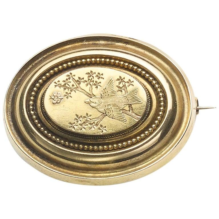 Victorian Gold Bird Brooch