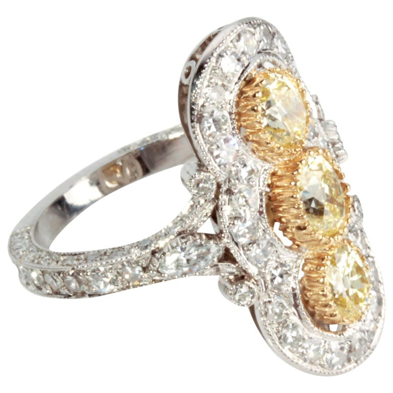 gold and platinum ring for sale at 1stdibs