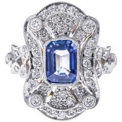 18 Carat Gold Sapphire Diamond Ring