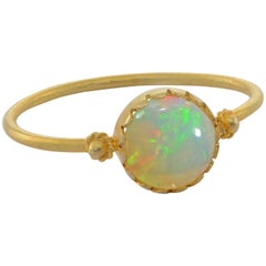 Grecian 18 Karat Gold Opal Ring