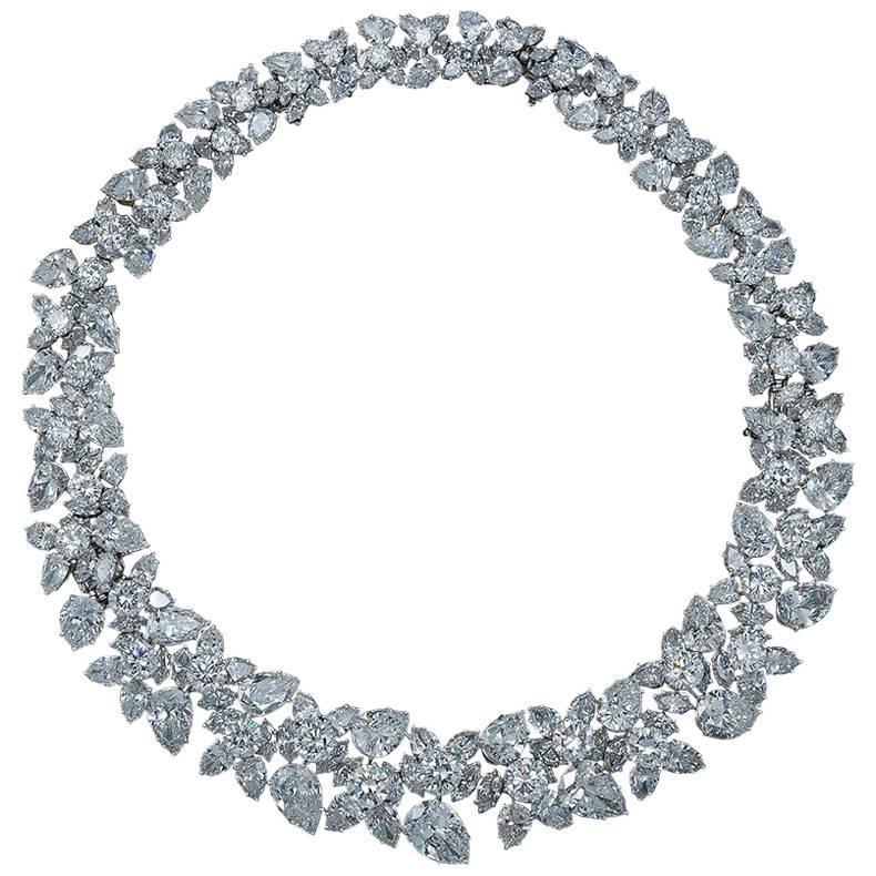 Winston Cluster Diamond Necklace