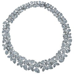 Harry Winston Diamond Wreath Necklace
