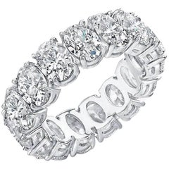 Oval Diamond Platinum Eternity Band Approximately .40 Carat Each Diamond
