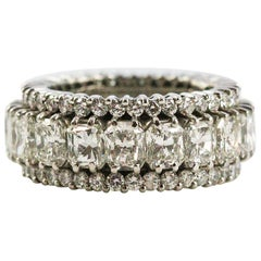Hammerman Brothers Platinum and 10.69 Carat Diamond Eternity Band