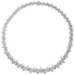 Diamond Platinum Wreath Necklace