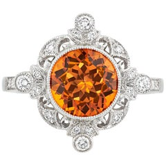 Tiffany & Co. Spessartite Garnet Ring, 3.25 Carat